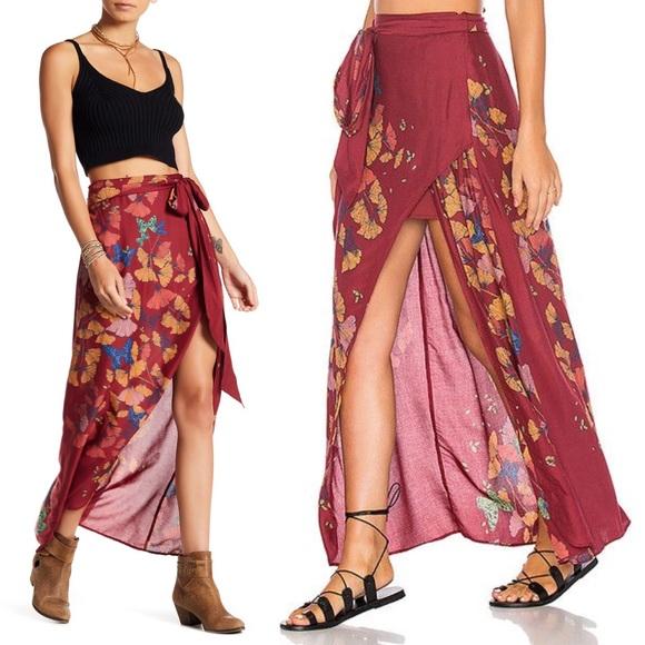 9a34887261 Free People Skirts | Bri Bri Butterfly Skirt | Poshmark